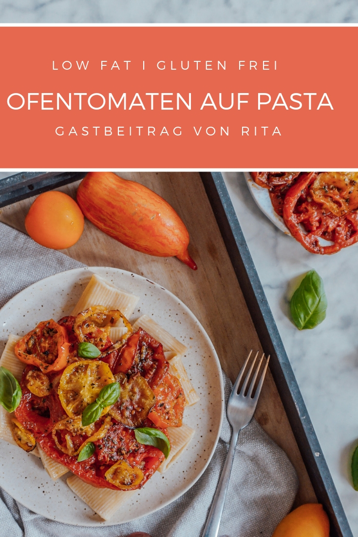 Ofentomaten auf Pasta