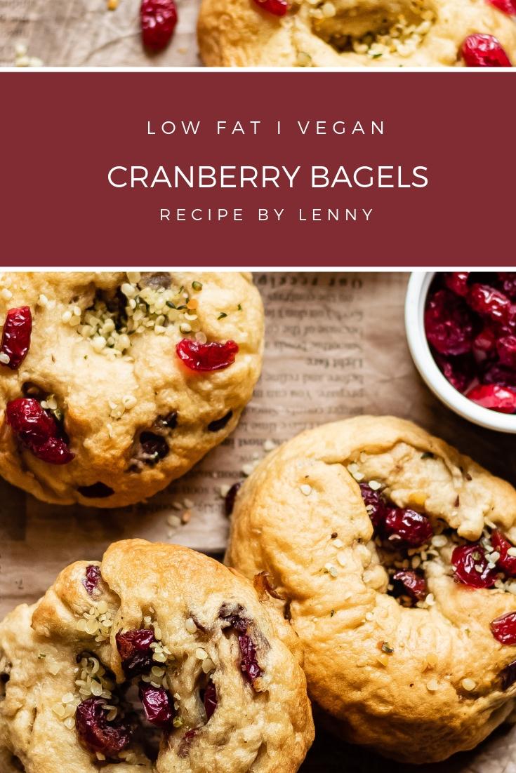 vegan bagels with cranberries