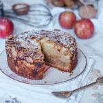 Apfelkuchen mit Pudding ohne Zucker-6