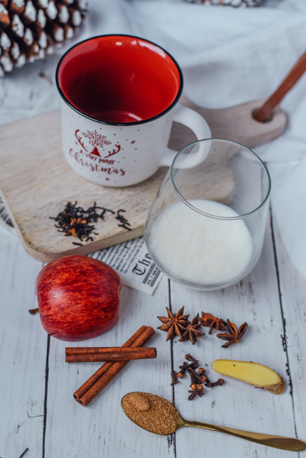 spiced apple latte ingredients