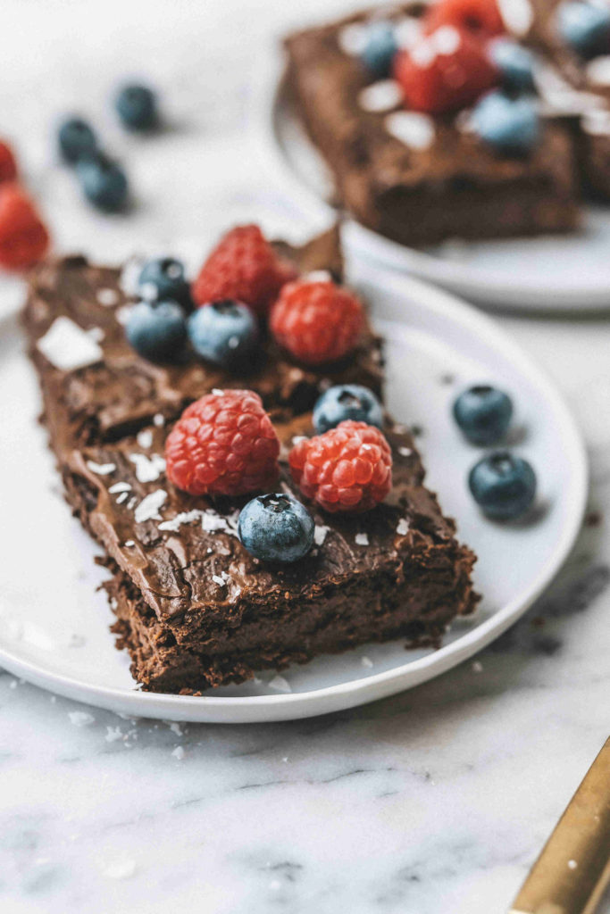 Vegane Brownies mit Kichererbsen