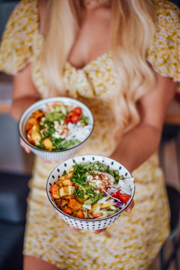 Buddha Bowl Rezept vegan mit Tofu