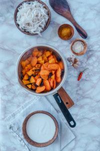 zubereitung von Thai Curry