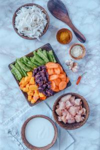 Zutaten für Curry Suppe