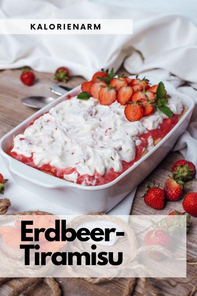Erdbeer-Tiramisu gesund und ohne Zucker