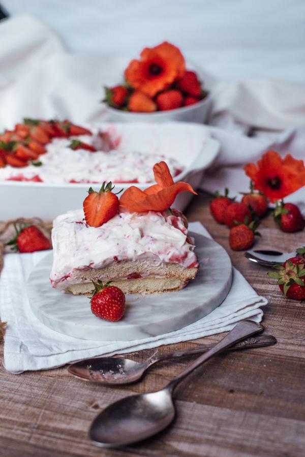 Erdbeer Tiramisu ohne Zucker