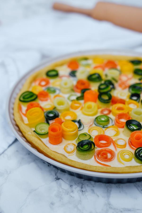 Gemüse Quiche vegetarisch
