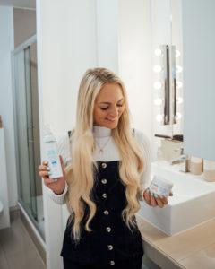Haare richtig waschen mit Extensions