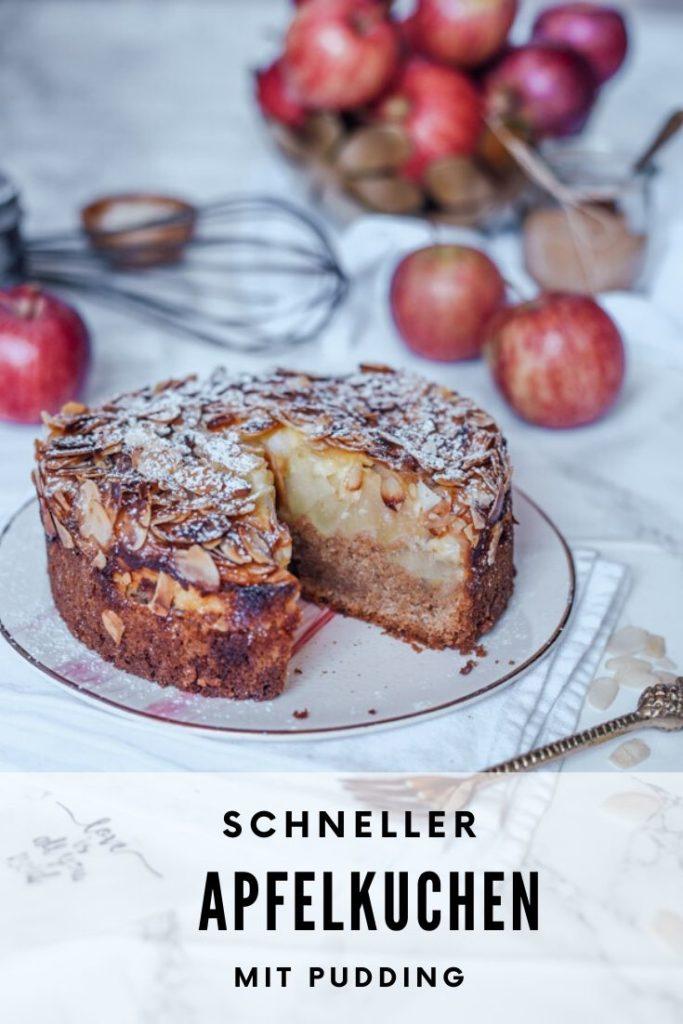 Kuchen mit Dinkelmehl und Apfel
