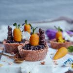 Osterrezept veganes Müslinest mit Marzipankarotte