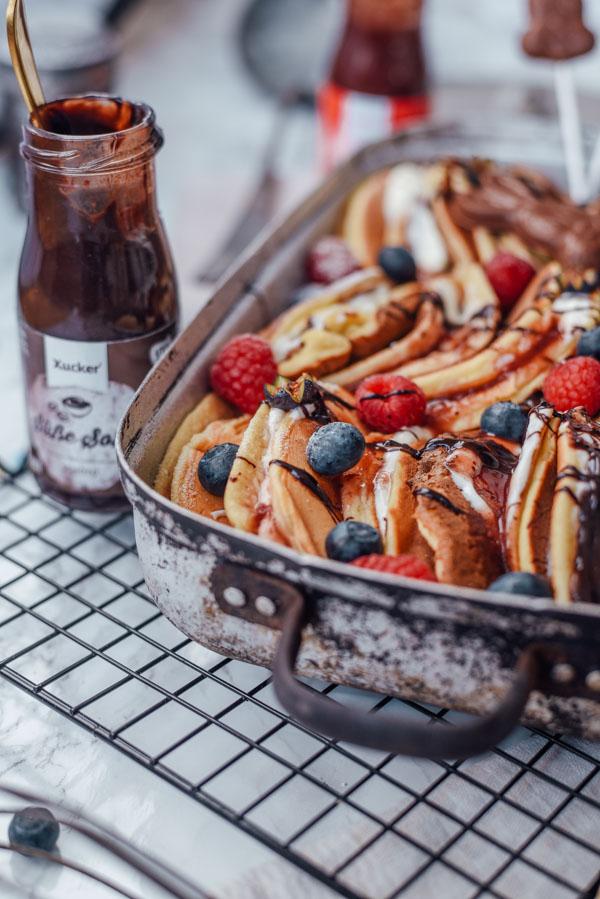 Pfannkuchen Auflauf ohne Zucker