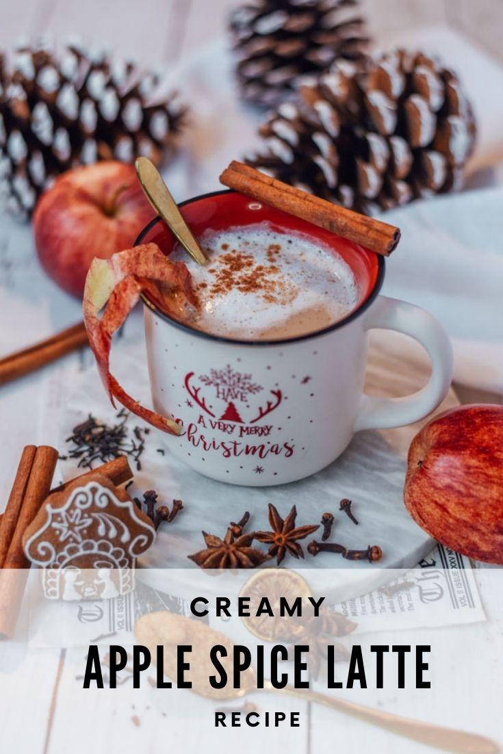 Homemade apple latte