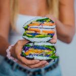 Sushi Burger mit Karottenlachs