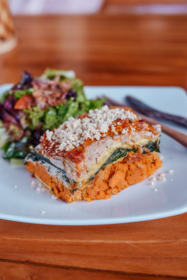 Raw Vegan lasange at Seeds of life ubud