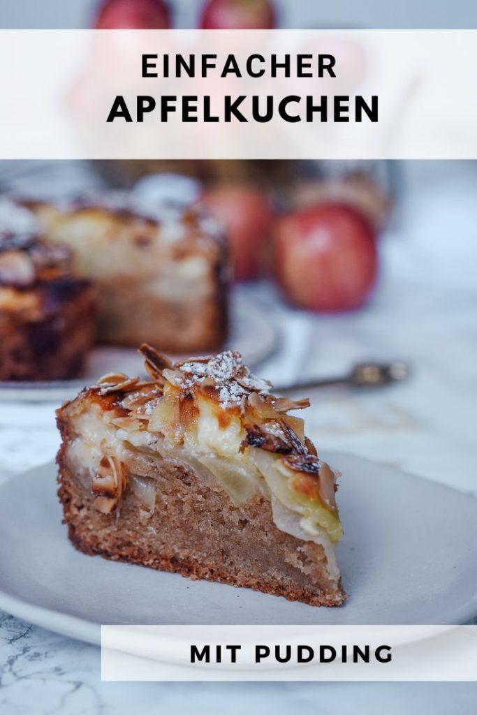 einfacher Kuchen mit Apfel