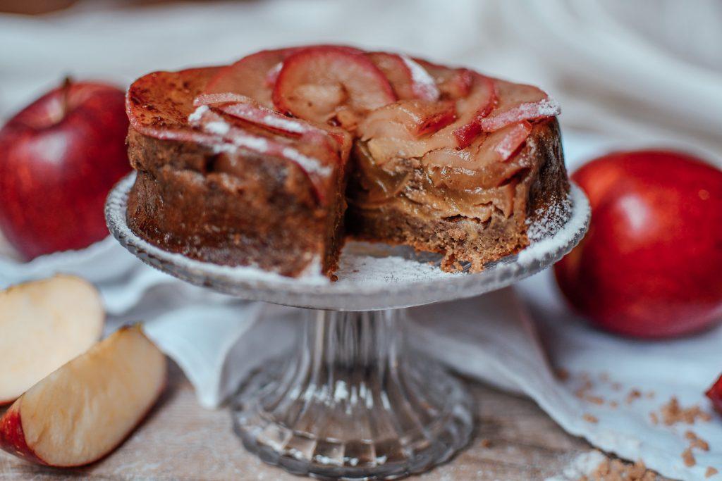 low Carb Kuchen - Apfelkuchen gesund_
