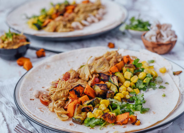 vegan Jackfruit pulled pork wrap