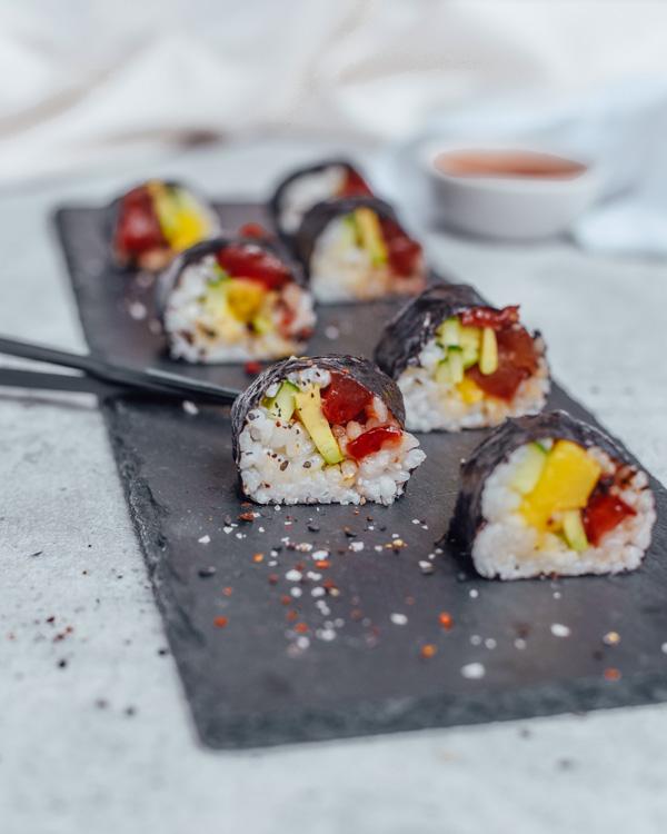 Veganer Thunfisch Sushi
