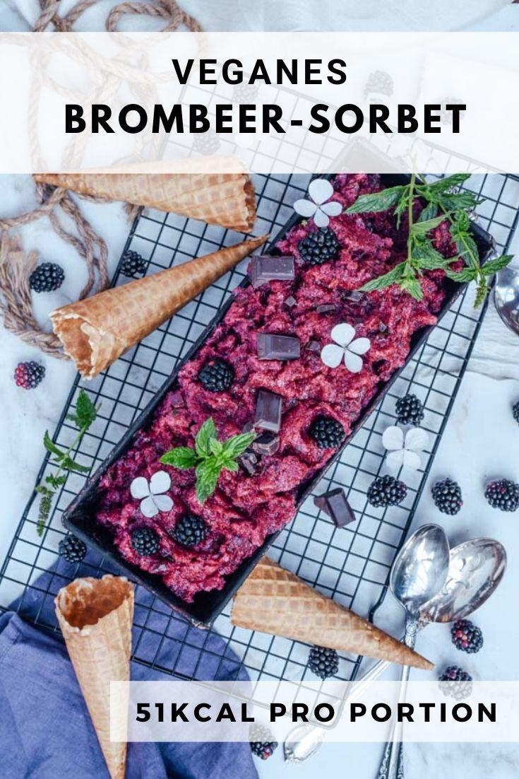 veganes brombeer-sorbet