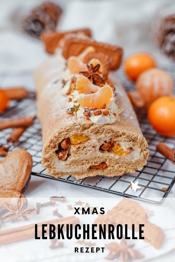 weihnachtliche Biskuitrolle